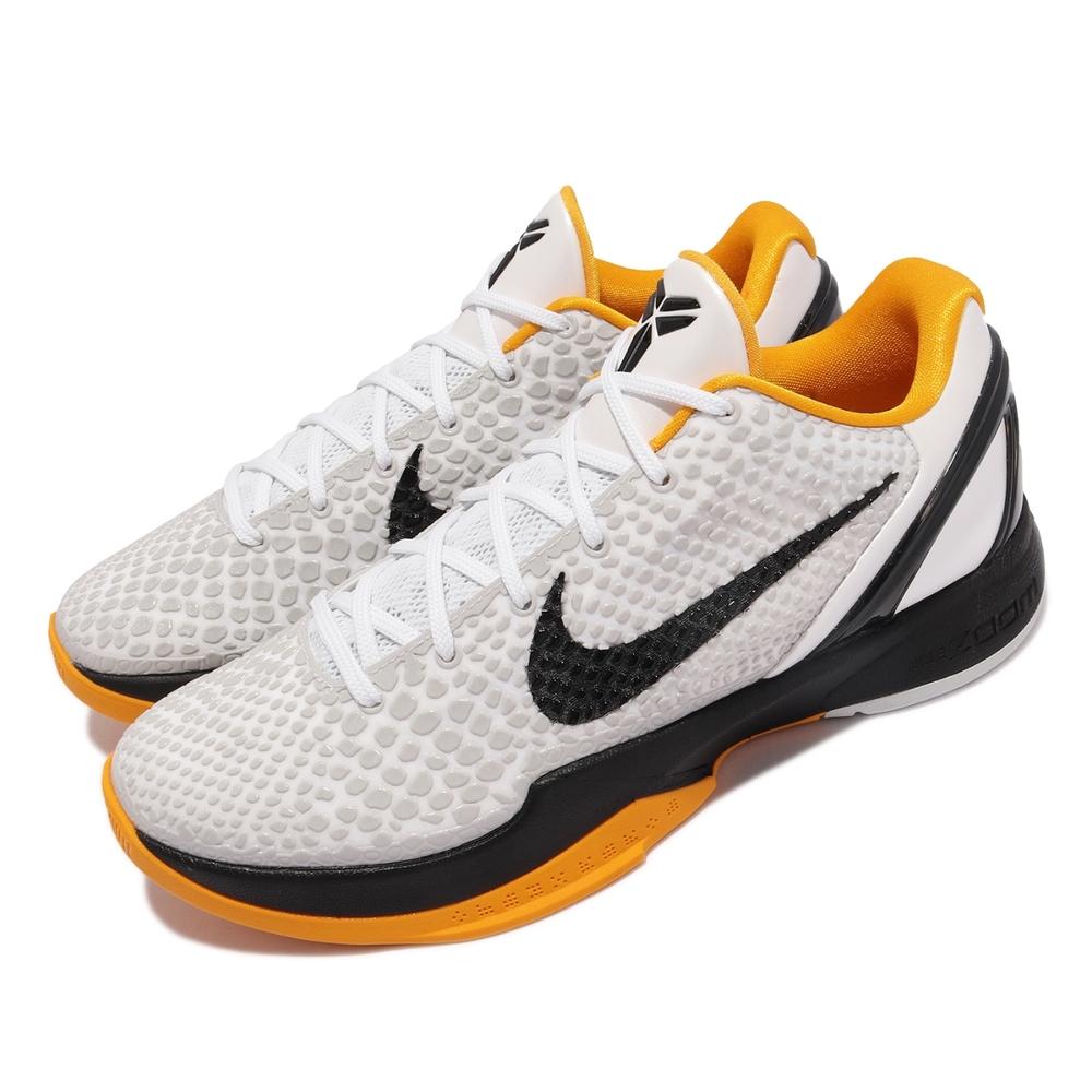 Nike 籃球鞋 Kobe VI Protro 6代 男鞋 White Delsol 復刻 季後賽 黑曼巴 白 黑 黃 CW2190-100