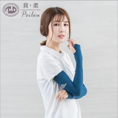 貝柔高效涼感防蚊抗UV成人袖套-土耳其藍