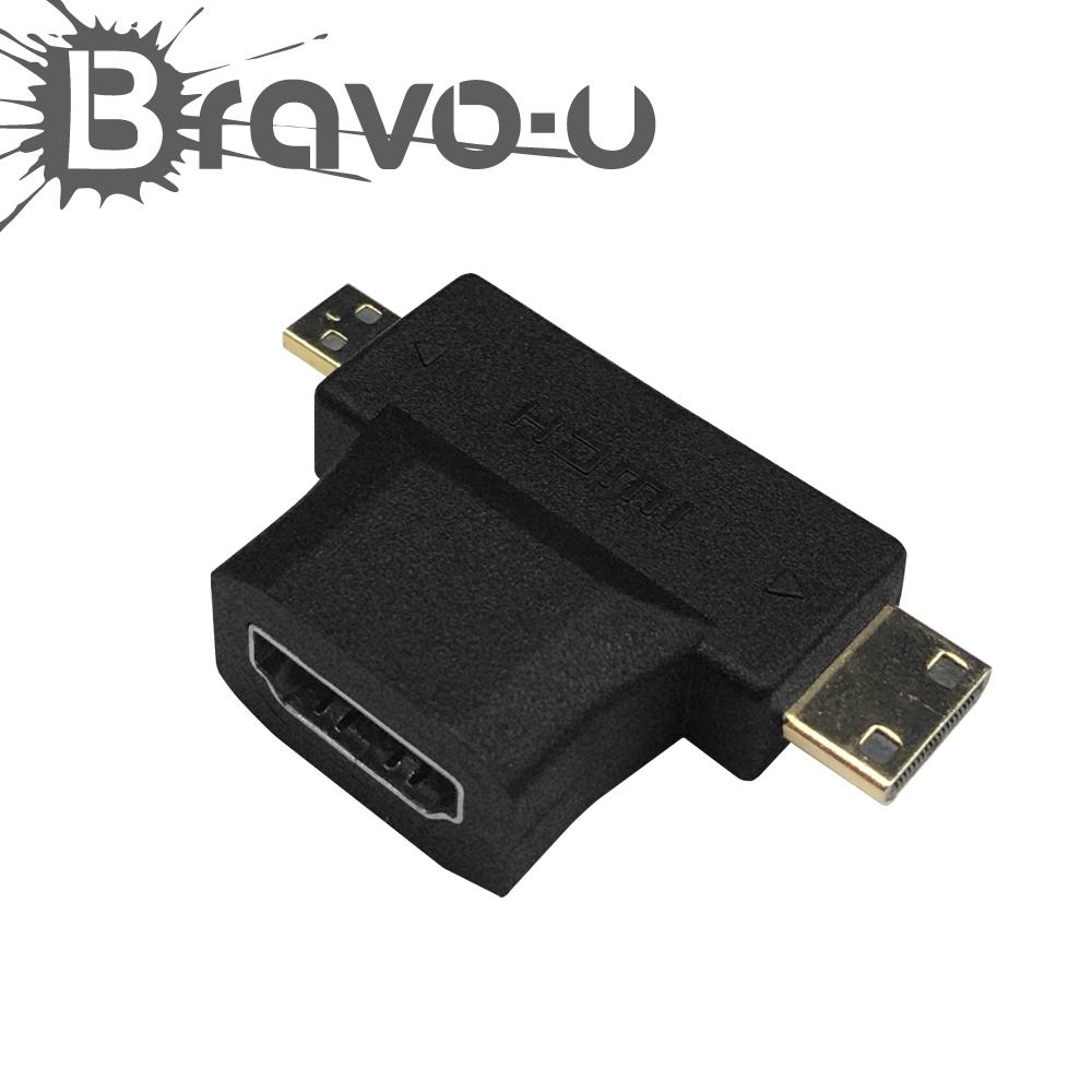 Bravo-u micro / mini HDMI 轉 HDMI 轉接頭
