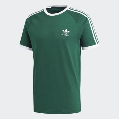 adidas 短袖上衣 運動 慢跑 訓練 男款 綠 GD9935 3-STRIPES TEE