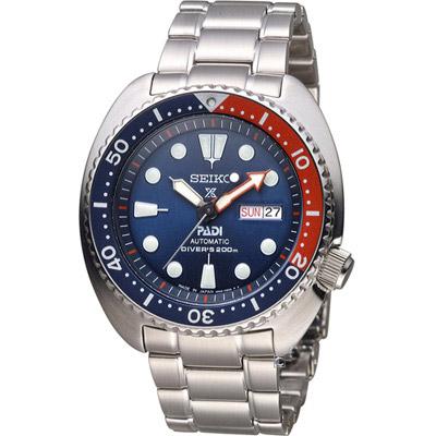 SEIKO 精工 Prospex PADI聯名 潛水機械錶(SRPA21J1)藍/45mm