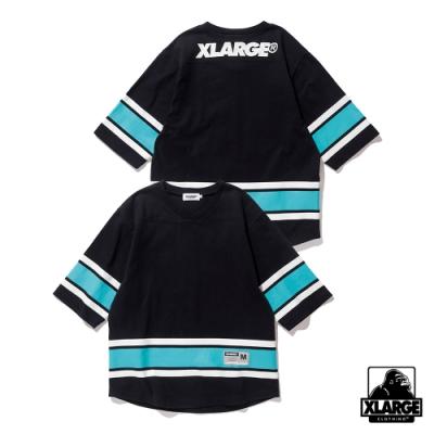 XLARGE LINED HOCKEY TEE短袖T恤-黑