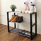 Amos-歐系實木框三層鐵管鞋架