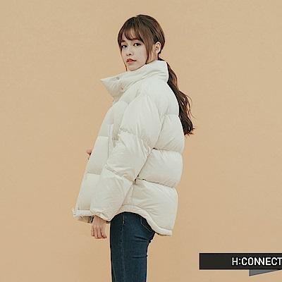 H:CONNECT 韓國品牌 女裝 - 立領保暖羽絨外套 - 白