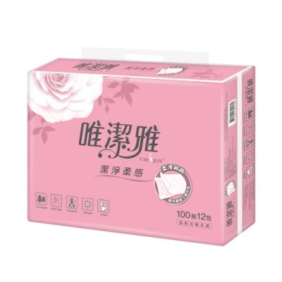 [限時搶購]唯潔雅優質抽取式衛生紙 100抽x12包x6袋-箱