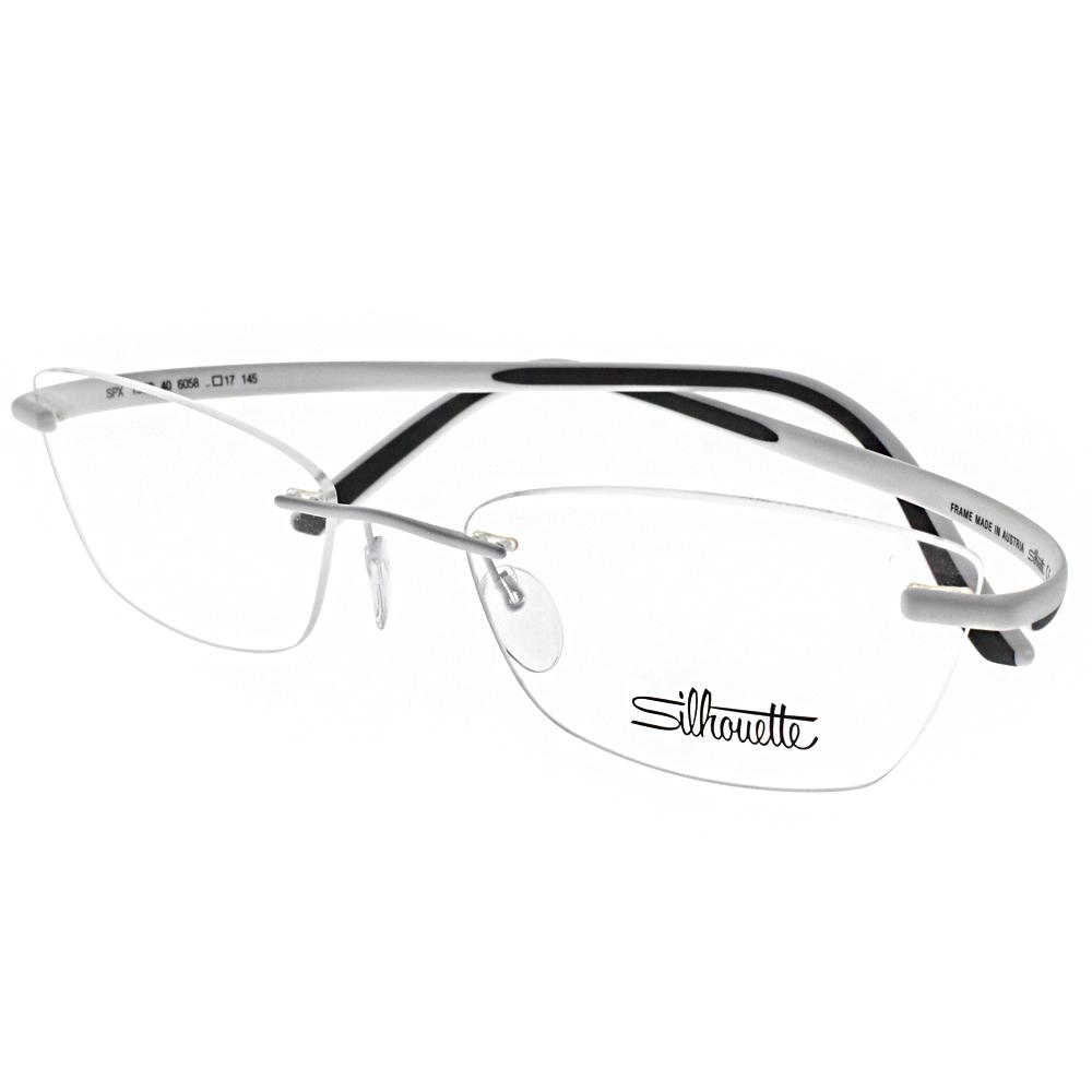 Silhouette詩樂眼鏡 質感無框/白 #ST1569-40 6058