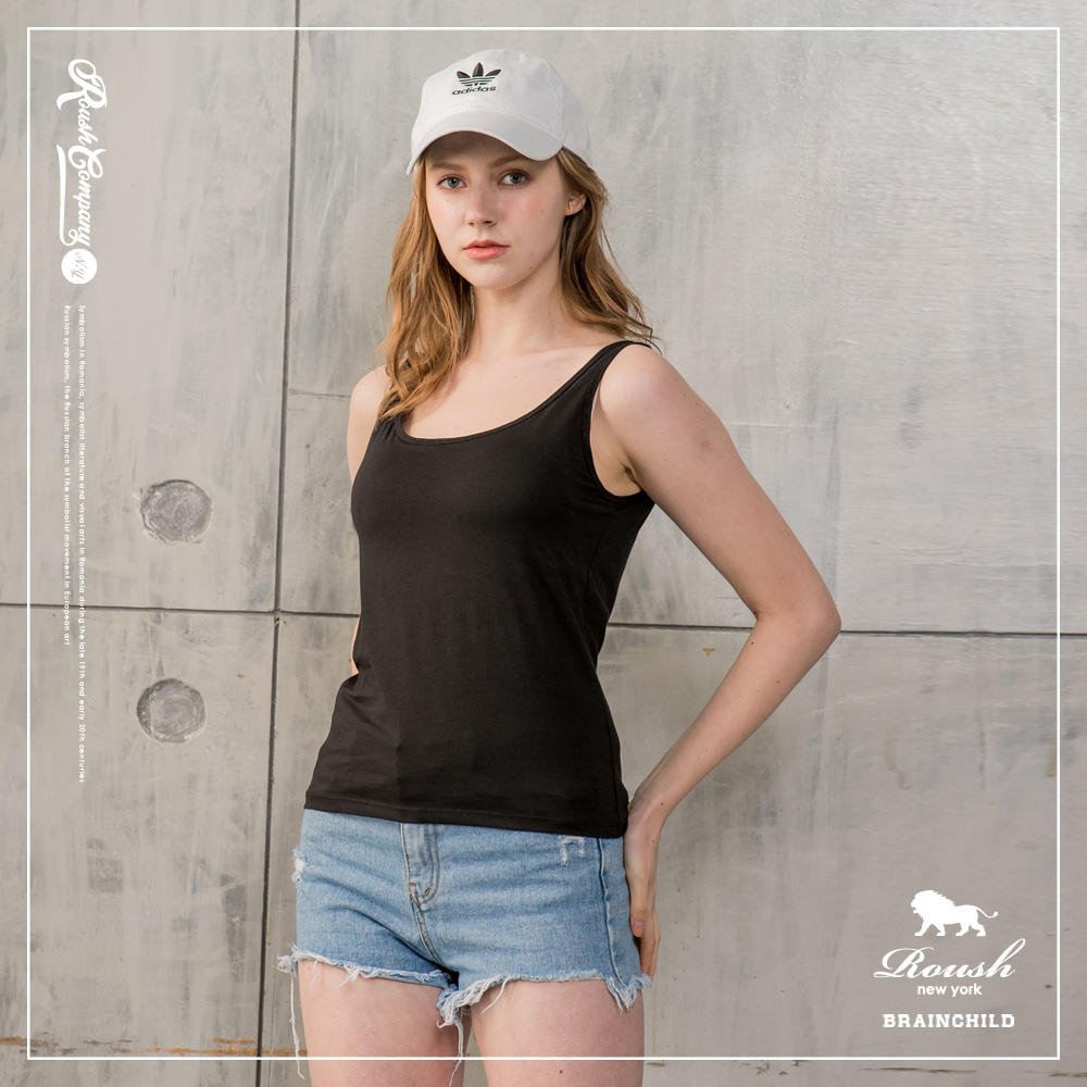 Roush 女生BRATOP罩杯式彈力背心 (3色)