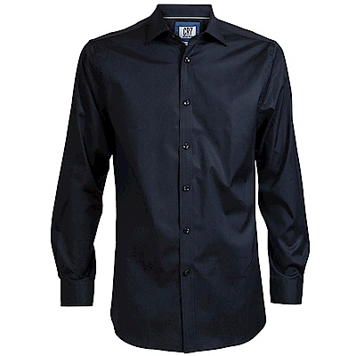 CR7-長尖領經典素面襯衫-靛藍(8600-73-12)