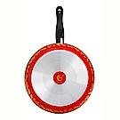義廚寶 菲麗塔系列深平底鍋32cm-金金有魚 FE11-1 (獨家搭贈專用蓋+蝶型荷木鏟)