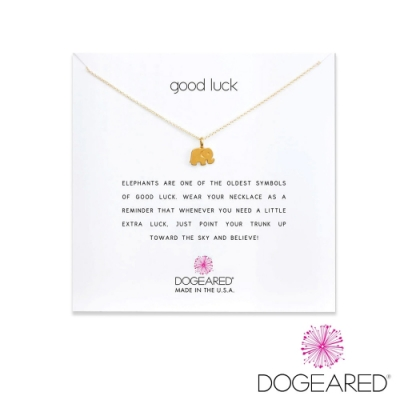 美國DOGEARED 幸運大象鍍金祈願項鍊 Good Luck Necklace