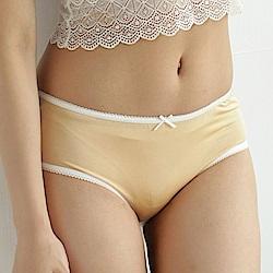 內褲 清新甜美100%蠶絲中高腰三角內褲 (膚) Chlansilk 闕蘭絹