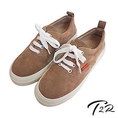 【T2R】厚底增高綁帶秋色休閒鞋-卡其 @ Y!購物