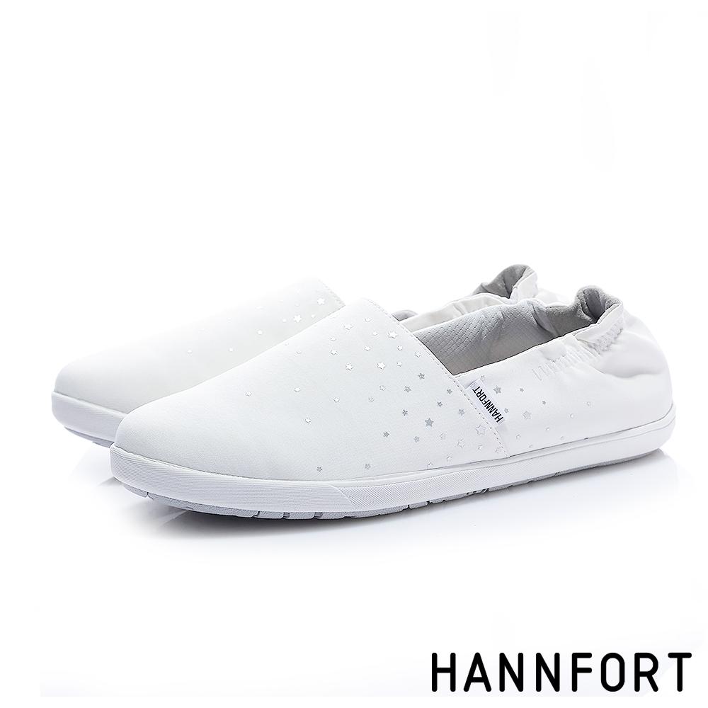 HANNFORT CALIFORNIA星光點點棉布休閒鞋-女-點點白