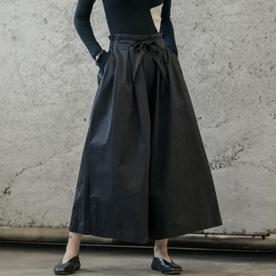 設計所在Style-復古風日式綁頻寬鬆休閒長褲