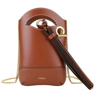 [加碼領券再折] CHLOE Walden 牛皮斜背鍊帶手機包-2色可選