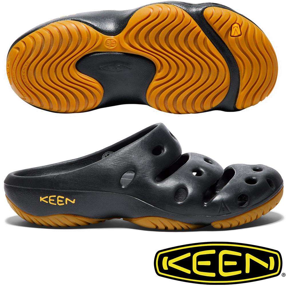 KEEN 1001966黑 Yogui男戶外護趾拖鞋/水陸兩用鞋