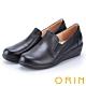 ORIN 率直簡約 柔軟素面牛皮休閒楔型鞋-黑色 product thumbnail 1