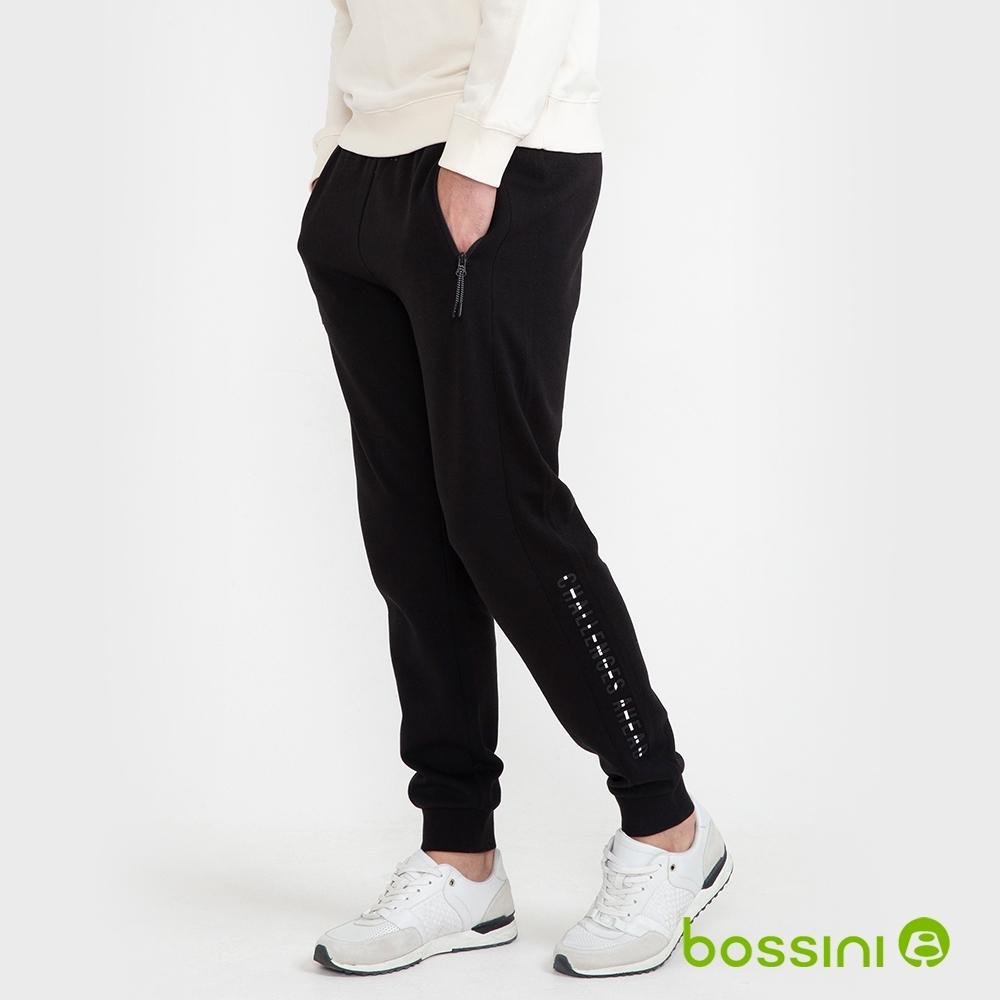 bossini男裝-運動束口棉褲03黑
