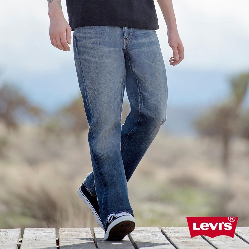 Levis 男款 514 低腰直筒牛仔褲 立體大刷白 彈性布料