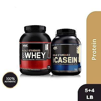 [美國 ON]金牌WHEY乳清蛋白(5磅)+酪蛋白4磅