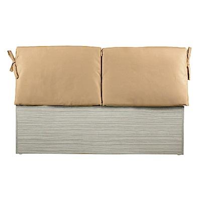 綠活居 亞梭6尺淺咖啡雙人加大床頭片(四色)-184.5x8.5x92cm免組
