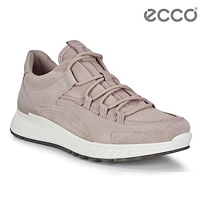 ECCO ST.1 W 舒適動能拼色戶外運動鞋 女-粉灰色