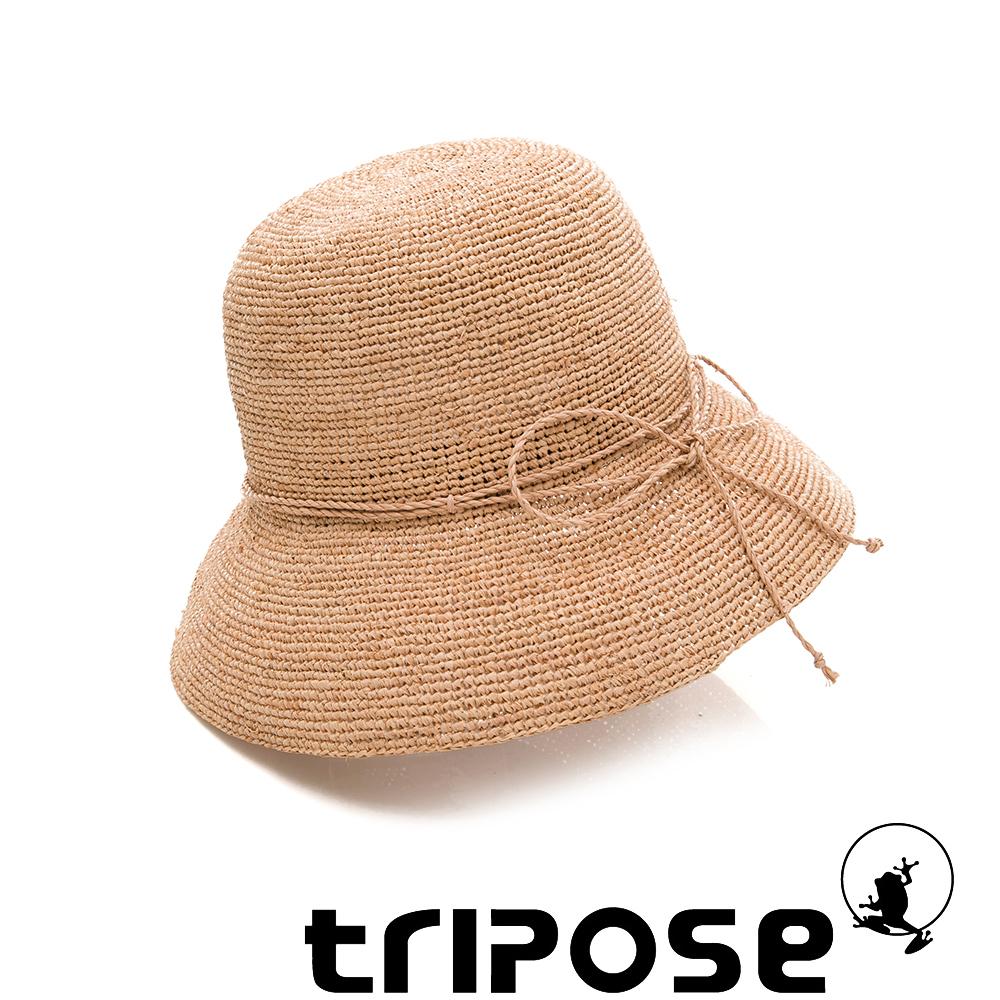 tripose 經典優雅-100%手工Raffia時尚遮陽草帽-帽簷-8cm(棕色)