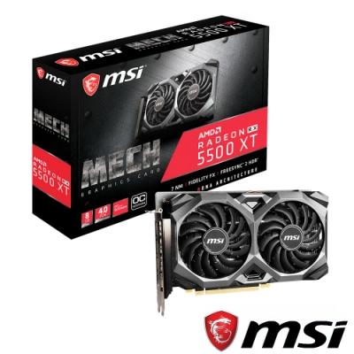 MSI微星 Radeon RX 5500 XT MECH 8G OC 顯示卡