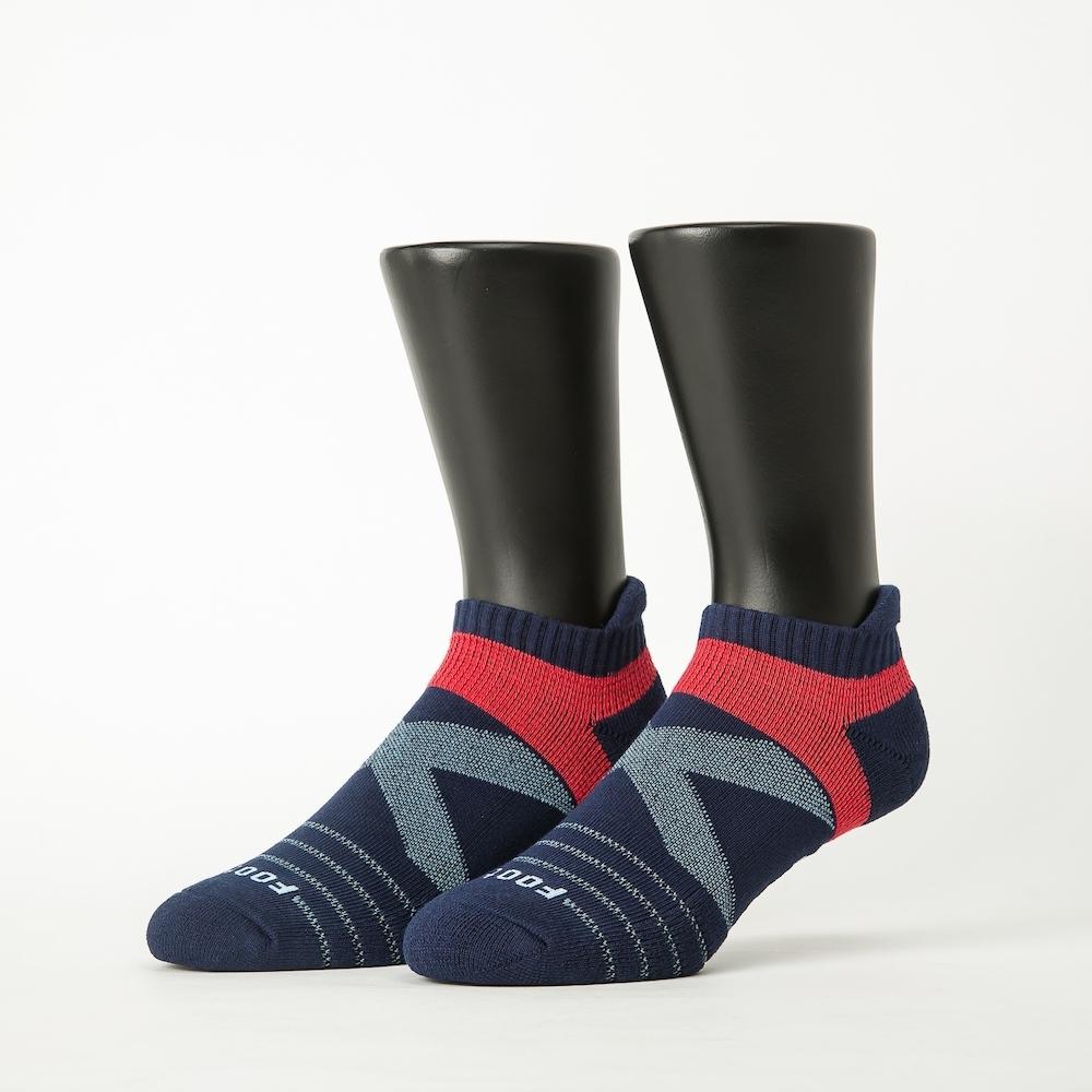 Footer除臭襪-X型雙向減壓足弓船短襪-六雙入(深藍*2+咖啡*2+黑*2)
