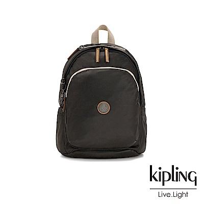 Kipling 邊緣地帶極致黑上方拉鍊後背包-DELIA-EDGELAND系列
