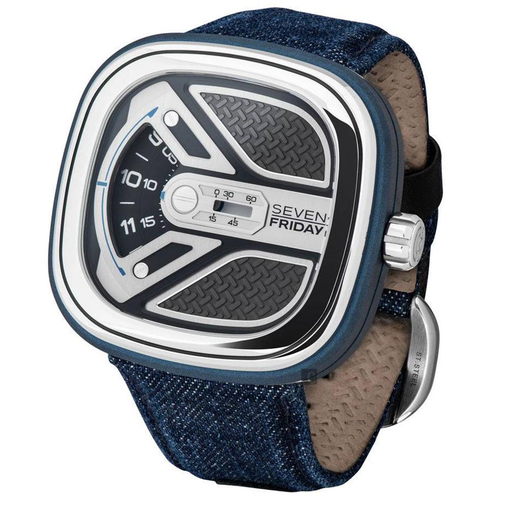 (無卡分期12期)SEVENFRIDAY M 系列城市冒險家自動上鍊機械錶 M1B-01