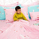 OLIVIA 夢幻星球 粉 特大雙人床包冬夏兩用被套四件組 200織精梳純棉