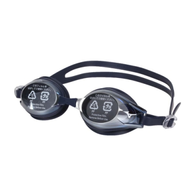 MIZUNO SWIM 日製基本泳鏡-抗UV 防霧 蛙鏡 游泳 訓練 美津濃 N3JE601100-14 丈青銀