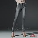 BRAPPERS 女款 新美腳 ROYAL系列-中低腰彈性酷黑灰窄管褲-黑灰