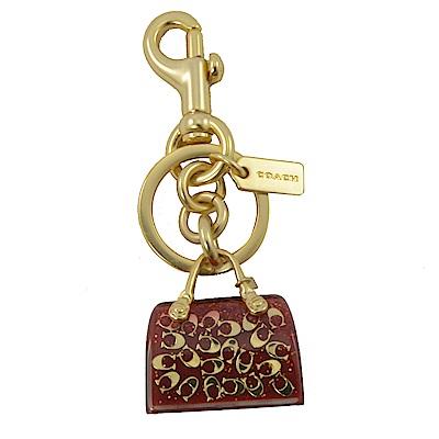 COACH 小C LOGO立體提包造型鑰匙圈