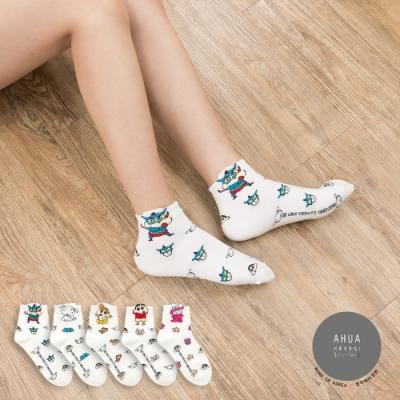 阿華有事嗎 韓國襪子   滿版立體耳朵蠟筆小新中筒襪  韓妞必備長襪 正韓百搭純棉襪