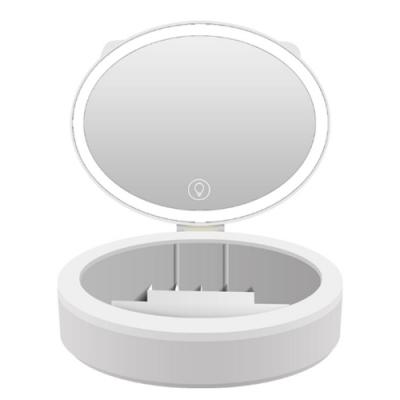 COMET 三光色LED觸控調亮攜帶式化妝鏡(TD-022)