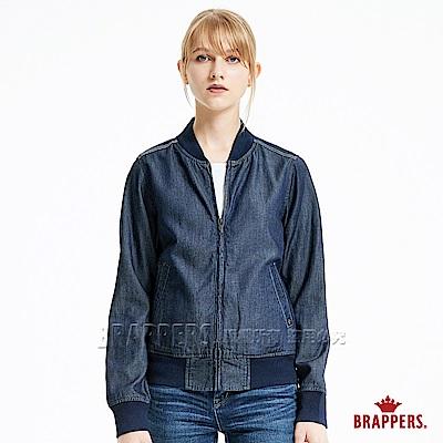 BRAPPERS 女款 Boy friend 系列-女用天絲棉運動外套-藍