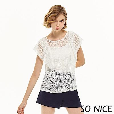 SO NICE優雅蕾絲造型上衣
