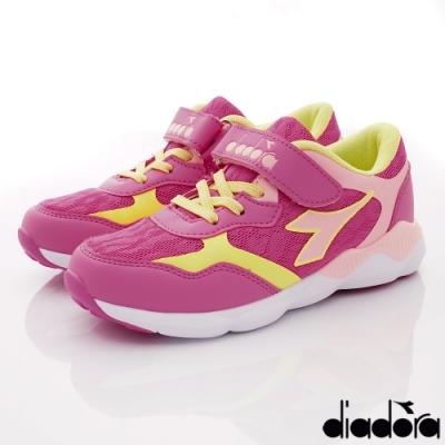 DIADORA童鞋 4E機能減壓跑鞋款 ON1016粉(中大童段)
