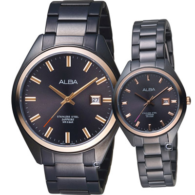 ALBA 愛戀密碼時尚對錶(AS9F82X1+AH7R20X1)