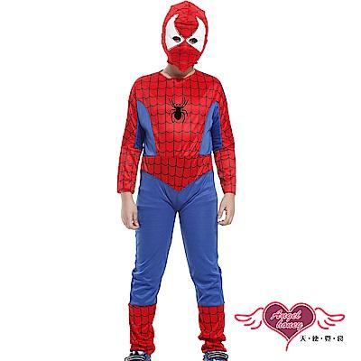 角色扮演 蜘蛛人 兒童萬聖節派對表演服(藍紅M~XL) AngelHoney天使霓裳