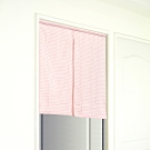 布安於室-粗孔隙純棉短門簾-中開式-粉色