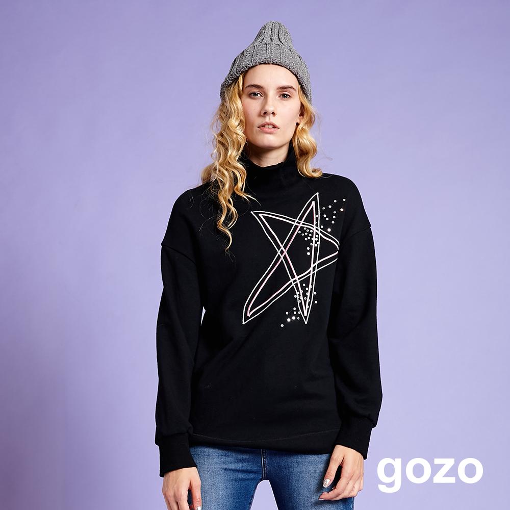 gozo 宇宙星系羅紋翻領上衣(二色)