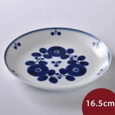 日本 Hakusan  BLOOM 圓形餐盤 花中間 16.5cm