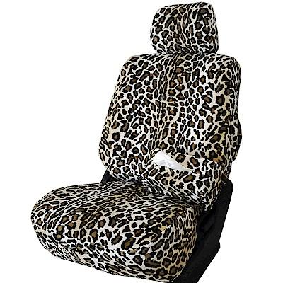【葵花】量身訂做-汽車椅套-絨布-花豹紋-休旅車-9人座款1+2排