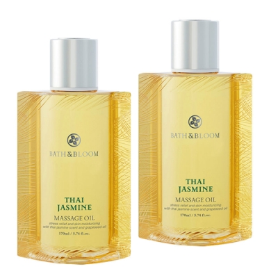 Bath & Bloom 泰國茉莉植物按摩油兩入組 170mlx2