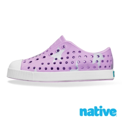 native 大童鞋 JEFFERSON 小奶油頭鞋-薰衣草紫x銀色星星