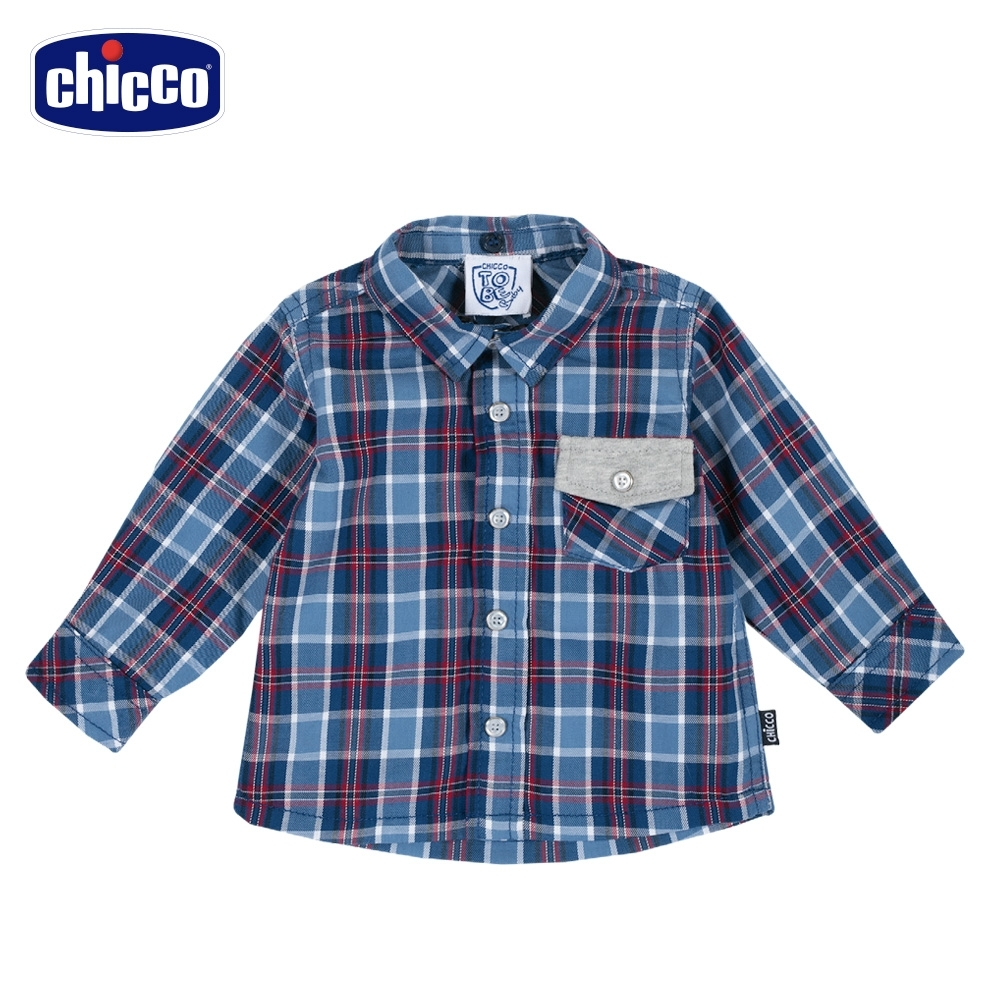 chicco-TO BE Baby-格紋長袖襯衫