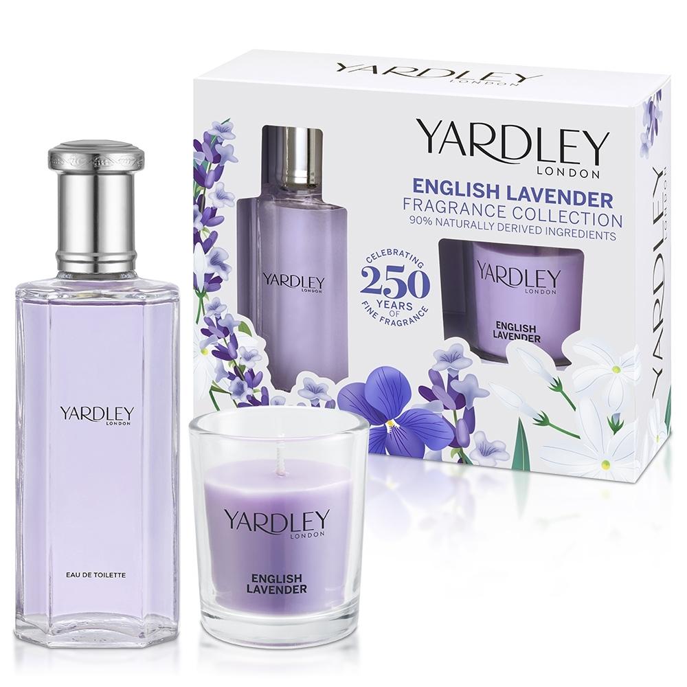 YARDLEY 雅麗 英國薰衣草淡香水禮盒(淡香水50ml+蠟燭120g)